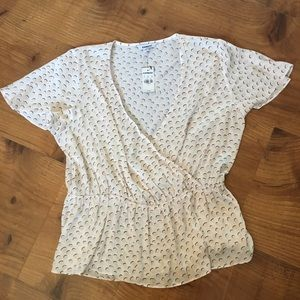 Express silky top size large NWT